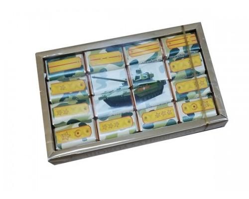 ВОЕННЫЙ набор мини шоколадок  80гр