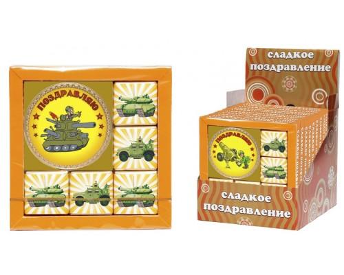 ВОЕННАЯ ТЕХНИКА набор из медали и  мини шоколадок  50гр