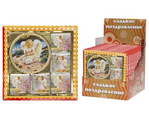 Ангелочек набор из медали и  мини шоколадок  50гр