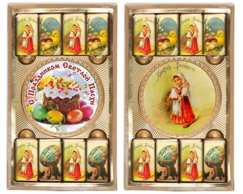 ПАСХА набор из медали и  мини шоколадок 65гр