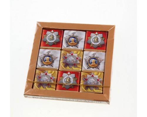 ОРДЕНА Пазл 3х3 набор мини шоколадок  45гр