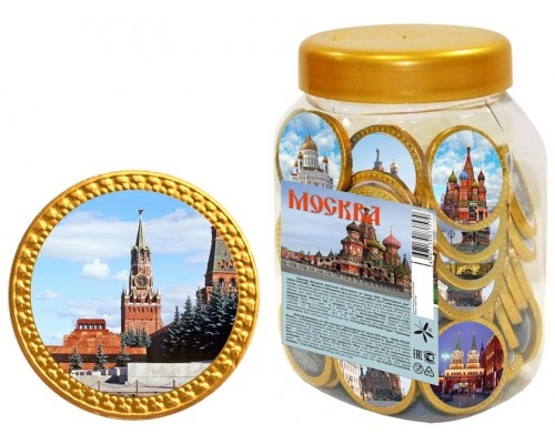 Шоколадные монеты МОСКВА 6гр [1/100шт]