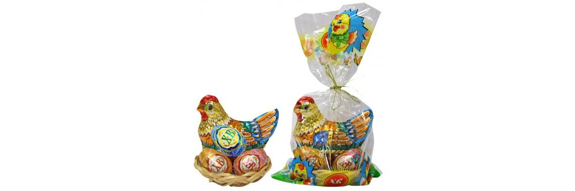 Шок. яйца, фигурки, наборы к Пасхе в ассортименте!
