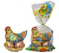 Пасхальный набор ( Курочка и 3 яйца) в корзинке 120гр