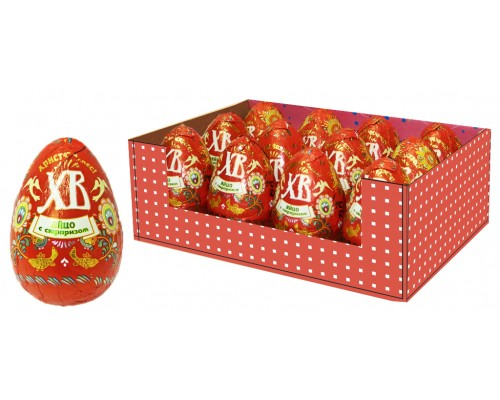 Яйцо шокол. ХВ с сюрпизом  50гр[1/12шт]
