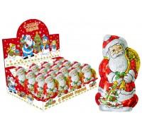Дед Мороз шоколадная фигурка в формованной фольге  100гр