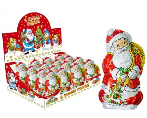 Дед Мороз шоколадная фигурка в формованной фольге  100гр [1/16шт]