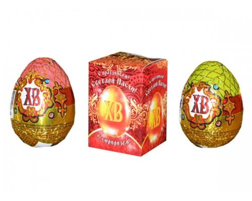 Яйцо шокол. ХВ с сюрпизом в индив. упаковке 20гр[1/24шт]