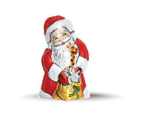 Шоколадная фигурка Дед Мороз 50гр шоу-бокс[1/25шт]