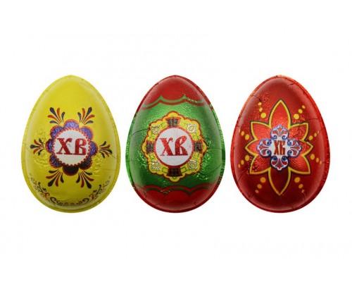 Яйцо шоколадное С Пасхой в формованной фольге 20гр[1/33шт]