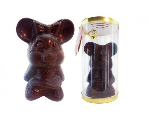 Шоколадная фигурка Мышка-Лапушка в подарочной упаковке 90гр[1/12шт]