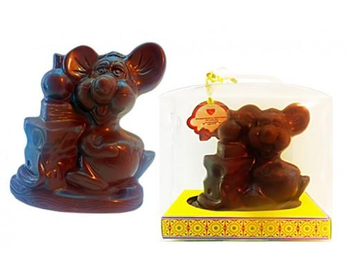 Шоколадная фигурка Мышь-Гурман в подарочной упаковке 150гр[1/7шт]