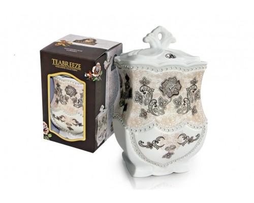 Тибриз Чай Золотой Ассам Керамическая чайница 100гр