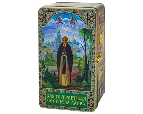 Чай Сергий Радонежский  подарочный ларец жесть 300 гр