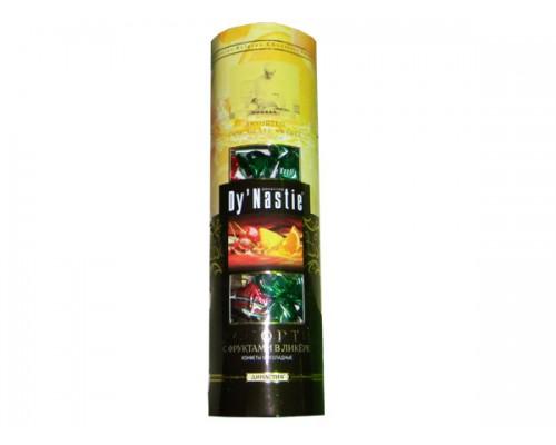 Династия Ассорти фрукты в ликере - туба с окошком, 195 гр.