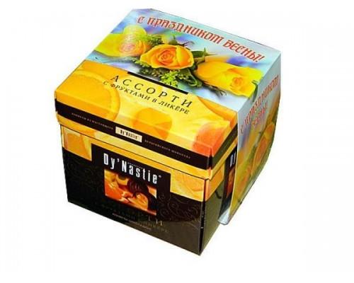 Династия Ассорти  фрукты в ликере  куб 105гр.